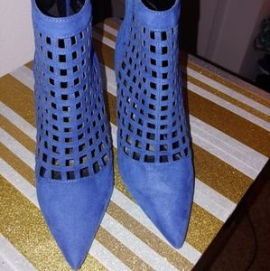 Royal Blue ankle boot